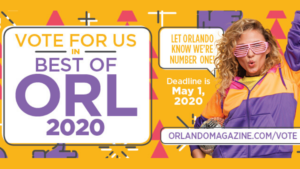 It's time to vote! LET ORLANDO KNOW WE'RE NUMBER ONE!