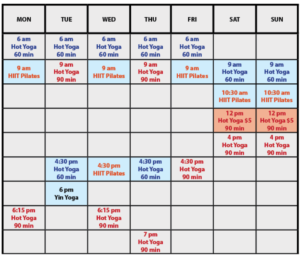 SCHEDULE CHANGE & Private Personal Training